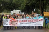Am 29. Juni 2014: Über 1000 Menschen demonstrieren in Haßleben gegen eine geplante Schweinemastanlage! Foto: http://www.wir-haben-es-satt.de
