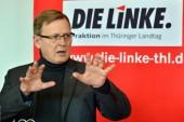 Thüringens Linke-Fraktionschef Bodo Ramelow will als Erster in seiner Partei in das Amt des Ministerpräsidenten gewählt werden Foto: dpa