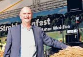 """Will seine erste Wahl gewinnen: Ministerpräsident und SPD-Landeschef Dietmar Woidke, hier in Wittstock beim """"Strohballenfest"""". Quelle: Diederich"""